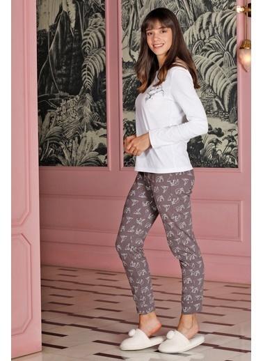 Hays Family Kadın Penye 2Li Pijama Takımı Mor